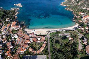 aerial photography sardinia baia sardinia