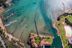 aerial photography sardinia cala di volpe