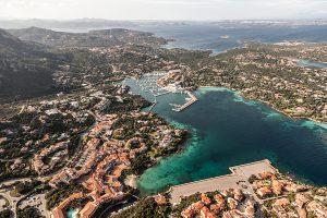 aerial photography sardinia porto cervo