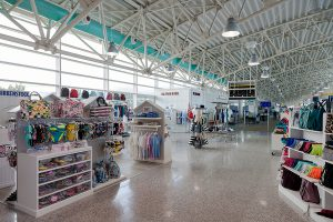 Interior photography shop airport Olbia